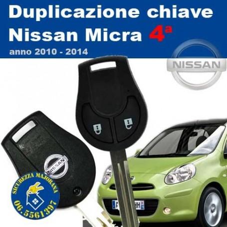 Key duplication Nissan Micra series 4