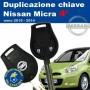 Duplicazione chiavi Nissan Micra serie 4