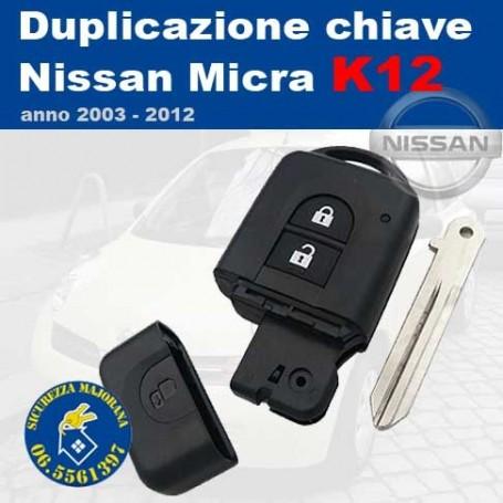 Key duplication Nissan Micra series K12