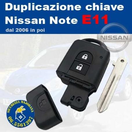 Duplicazione chiavi Nissan Note E11