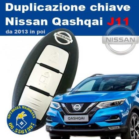 copy of Key duplication Nissan Qashqai