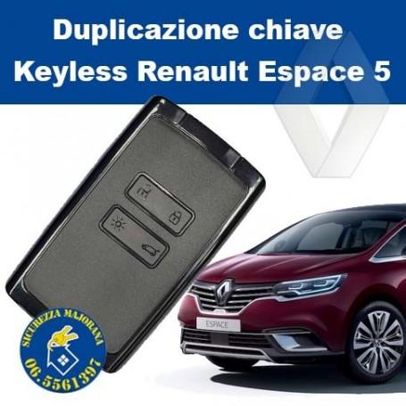 Renault Espace 5 keyless duplication