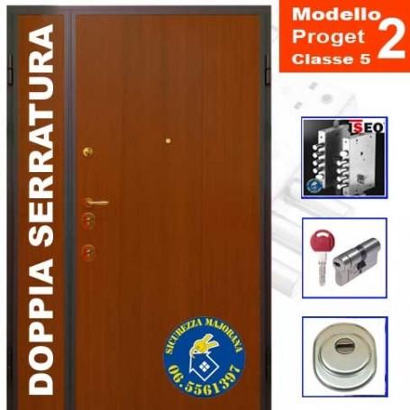 porta blindata Proget due ante doppia serratura