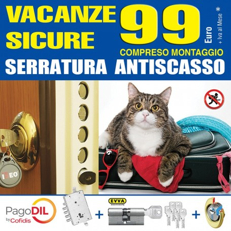 Vacanze sicure serratura antiscasso