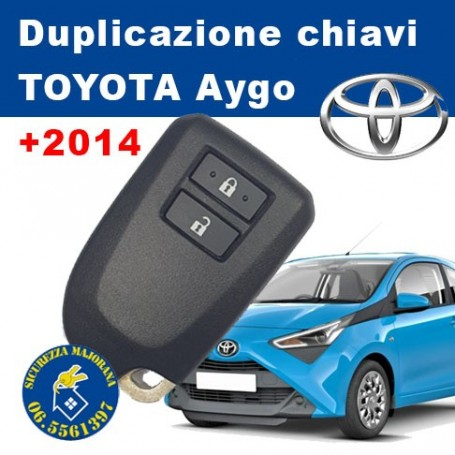 Key duplication Toyota Aygo +2014
