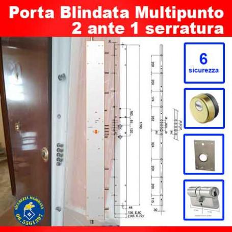 Porta blindata Multipunto due ante una serratura