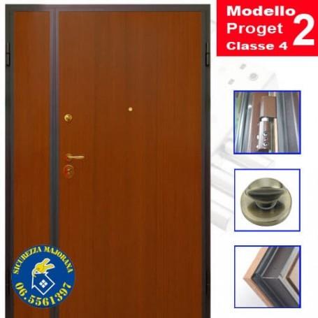 porta blindata 2 ante liscia modello Proget