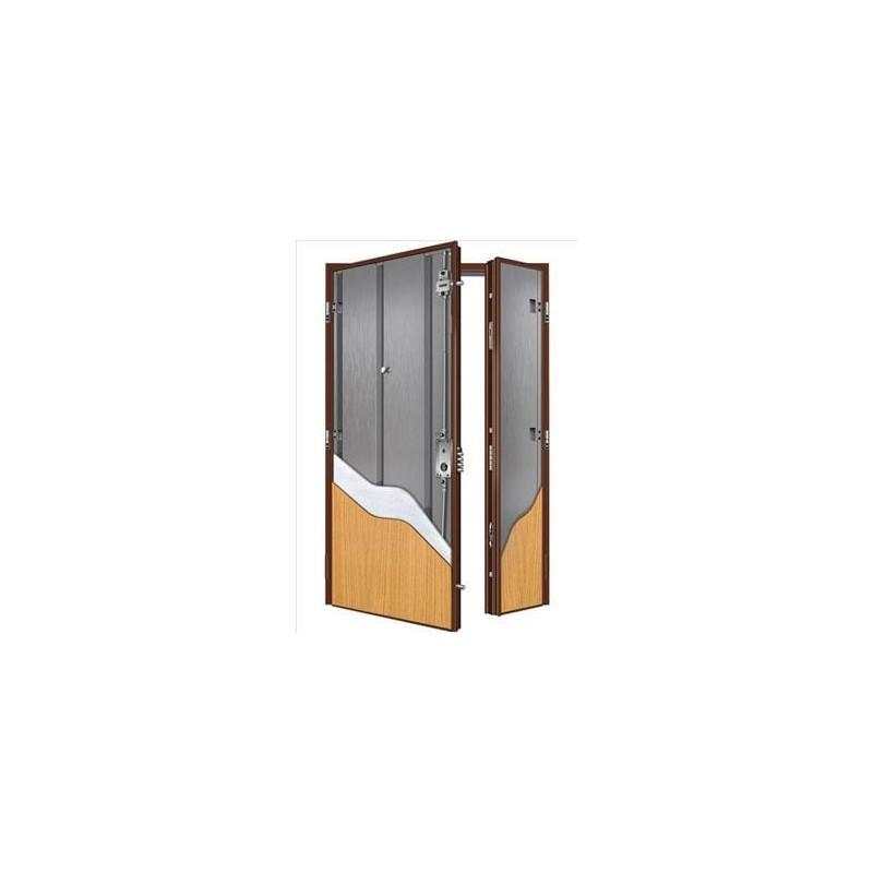 Porta blindata 2 ante liscia modello majorana con 2 serrature - Antishock porta ...