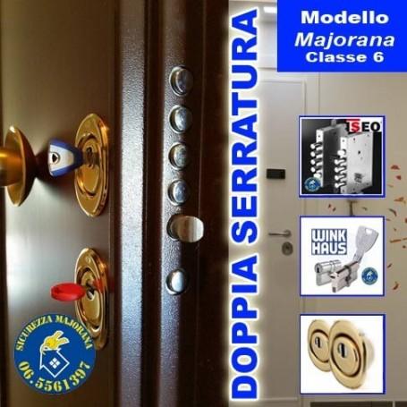 Porta blindata 1 anta 2 serrature liscia modello majorana for Finestra motorizzata prezzo