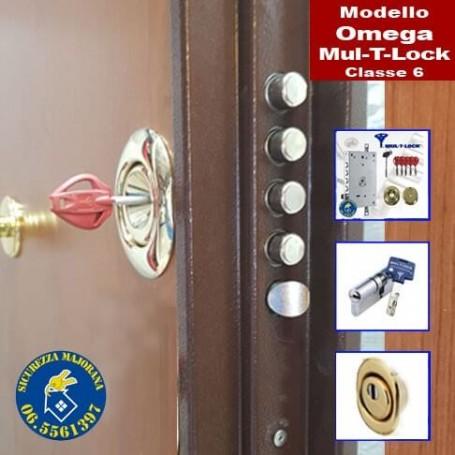 Porta blindata Omega Mul T Lock 1 Serratura