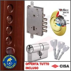 Montaggio serratura Cisa a profilo europeo