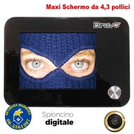 Spioncino elettronico bravo maxi sottoocchio schermo da 4 for Spioncino elettronico per porte blindate