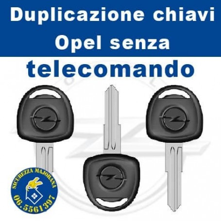 Opel key without remote control