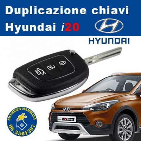 Hyundai i20 key duplication with remote control