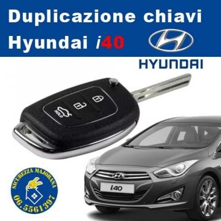 Hyundai i40 key duplication with remote control
