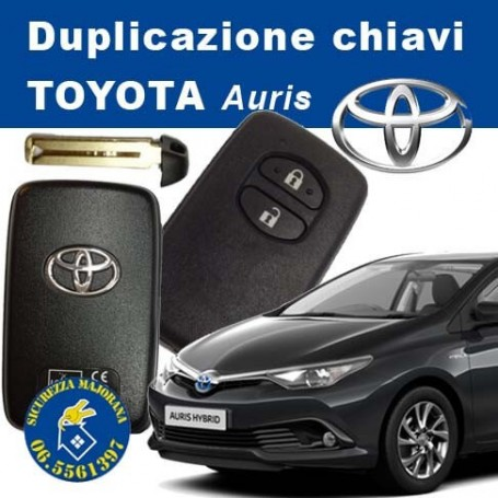 Toyota Auris keyless key duplication