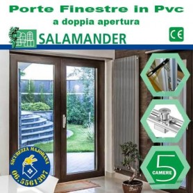 Double-leaf doors in pvc