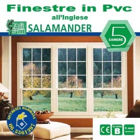 PVC windows in the English style