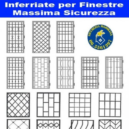 Fixed grilles for windows