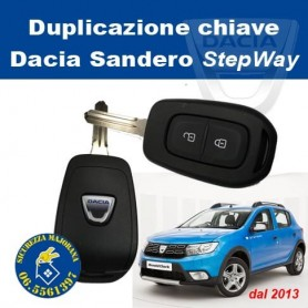 Duplicazione Chiave Dacia Sandero StepWay dal 2013