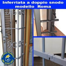 Inferriate a doppio snodo Roma