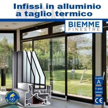 Aluminum frames with thermal break