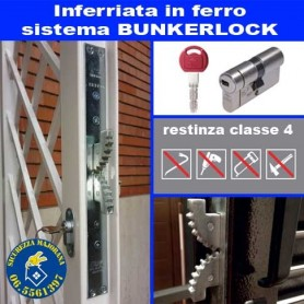 Security gratings with Bunkerlock system
