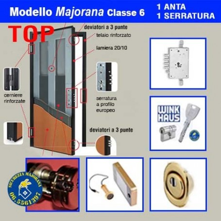 Porta blindata Majorana Top 1 anta 1 serratura