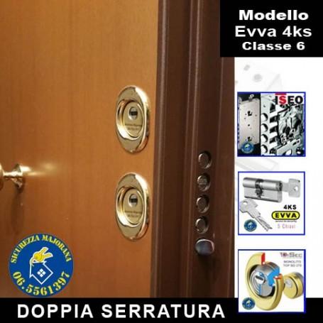 Porta blindata Evva 4ks doppia serratura
