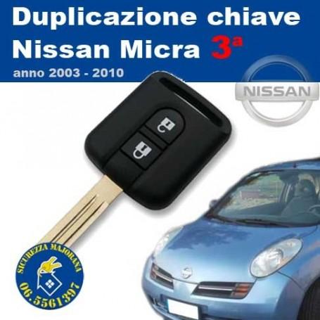 Key duplication Nissan Micra series 3