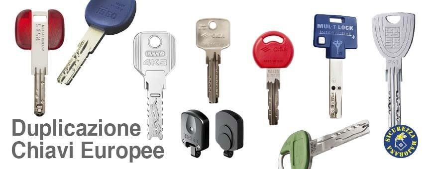 duplicazioni chiavi europee roma