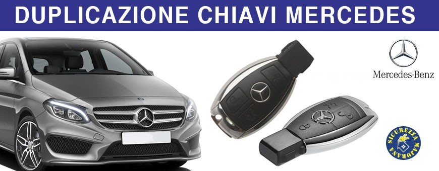 Duplicazione Chiave Mercedes ogni classe